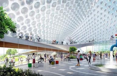 谷歌新总部方案:可移动的透明乌托邦